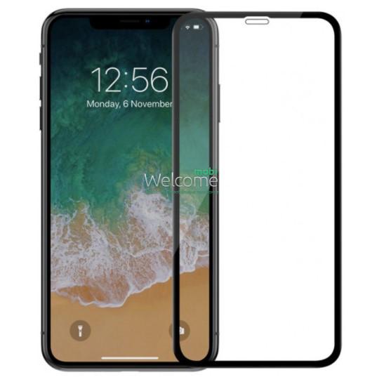 Скло iPhone XR (2018)/11 6.1 (0.3 мм, 4D ARC, чорне) Люкс