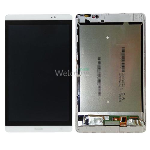 Дисплей до планшету Huawei MediaPad M2 8.0 в зборі з сенсором та рамкою white