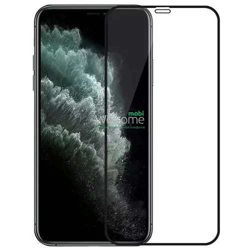 Скло iPhone 12 mini 5.4 (0.3 мм, 4D ARC, чорне) Люкс
