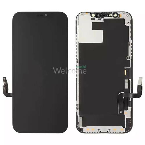 Дисплей iPhone 12/iPhone 12 Pro в зборі з сенсором та рамкою black (знятий оригінал)