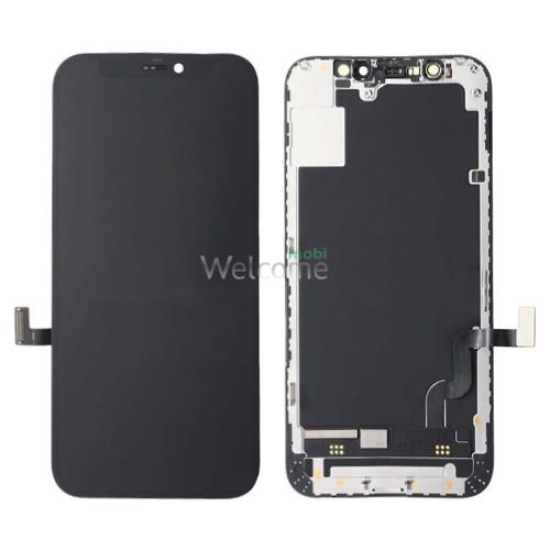 Дисплей iPhone 12 mini в зборі з сенсором та рамкою black (знятий оригінал)