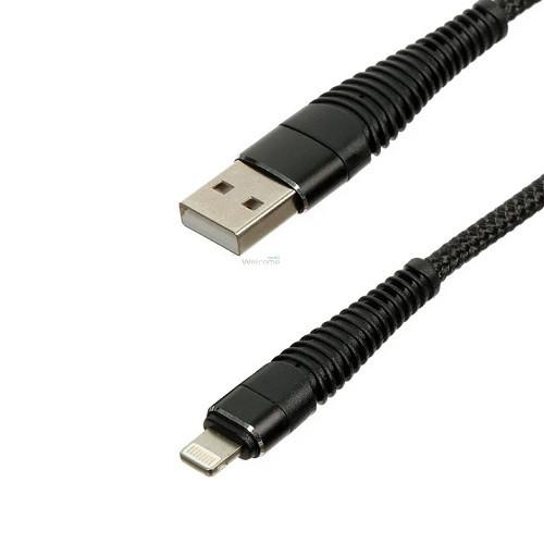 USB кабель DEX XS-003 Lightning 2.1A 1m black