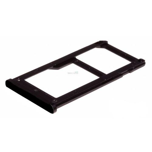 Тримач SIM-карти Nokia 6 (TA-1021) black (dual sim)