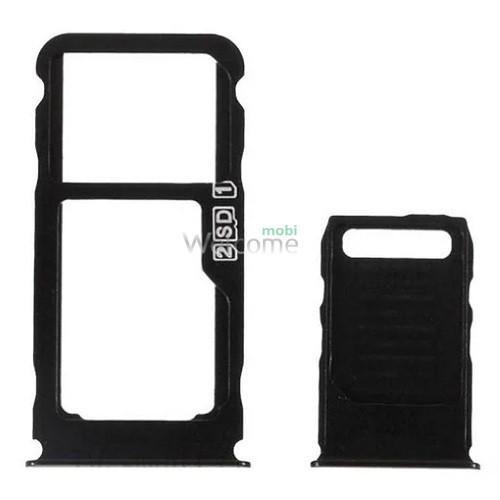 Тримач SIM-карти Nokia 3.1 Plus (TA-1104) black (dual sim)