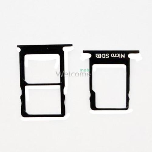 Тримач SIM-карти Nokia 5 (TA-1053) black (dual sim)
