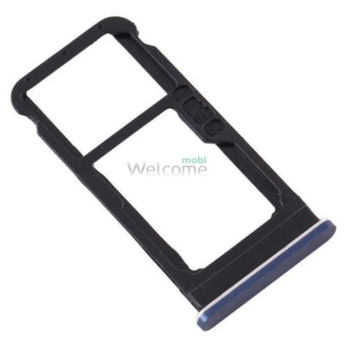 Тримач SIM-карти Nokia 6.1 (TA-1043, TA-1050) blue (dual sim)
