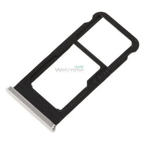 Тримач SIM-карти Nokia 6.1 (TA-1043, TA-1050) silver (dual sim)