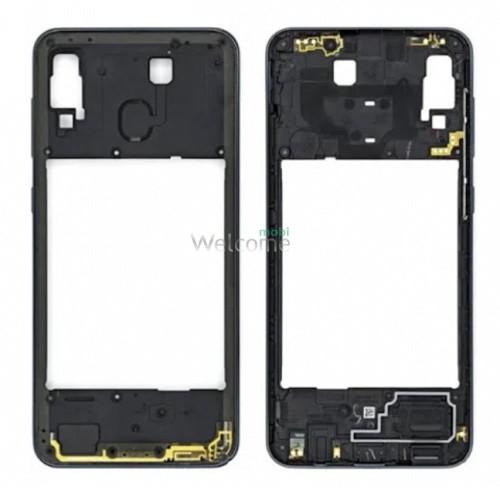 Рамка дисплею Samsung A307 Galaxy A30S (2019) black