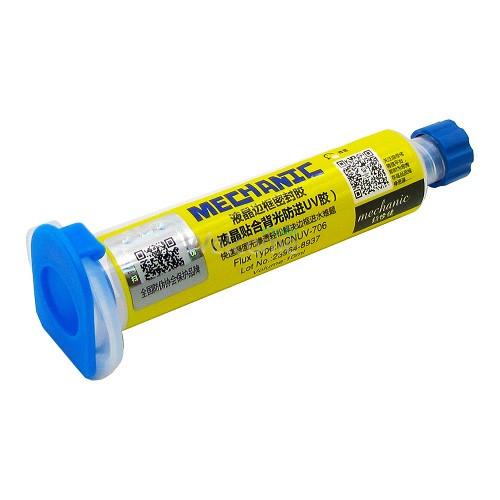 Клей-герметик MECHANIC MCNUV-706 (10 гр) в шприці (для ізоляції підсвічування від клею Loca)