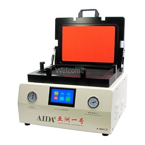 Вакуумний ламінатор AIDA A-808 12.0 (вбудований насос, ЖК-дисплей, сенсорне керування 10x188x280мм)
