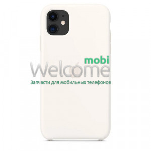 Silicone case for iPhone 11 ( 9) white
