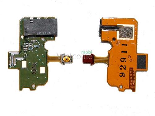 Шлейф Nokia N97 з аудіо роз`ємом та кнопкою ввімкнення