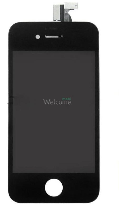 Дисплей iPhone 4S в зборі з сенсором та рамкою black (high copy)