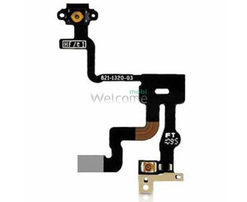 Шлейф iPhone 4S кнопки ввімкнення з сенсором наближення (high copy)