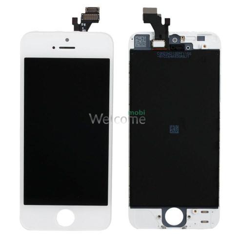 Дисплей iPhone 5 в зборі з сенсором та рамкою white (Original PRC)