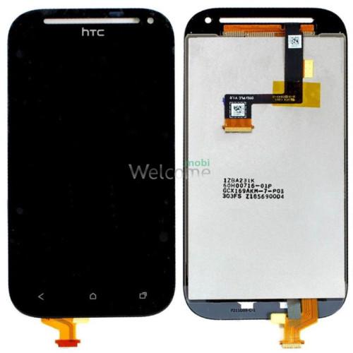Дисплей HTC C520e One SV/T528t One SV в зборі з сенсором black orig