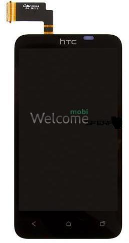Дисплей HTC T328d Desire VC в зборі з сенсором black orig