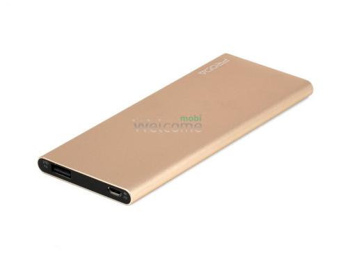 Зовнішній акумулятор (power bank) Proda Remax PP-V08 8000Ah gold