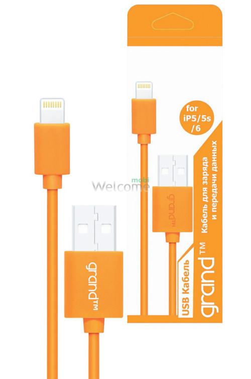 USB кабель для iPhone 5,5S,6,6S,7,8,X Grand orange