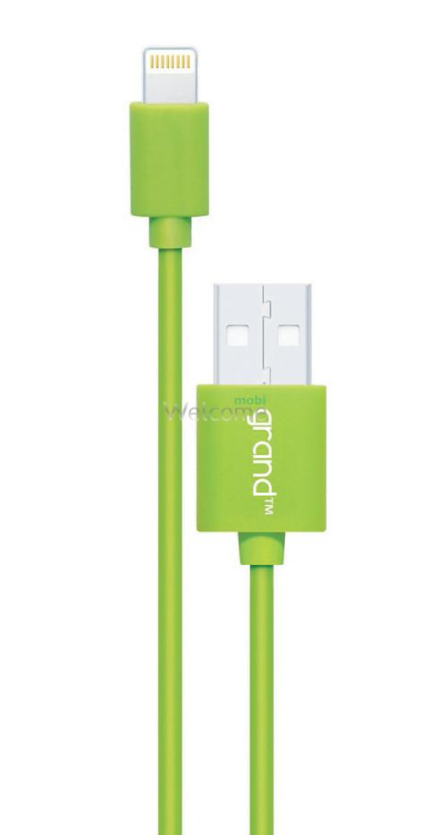 USB кабель для iPhone 5/5S/6/6S/7/8/X Grand green