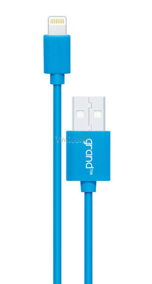 USB кабель для iPhone 5/5S/6/6S/7/8/X Grand blue