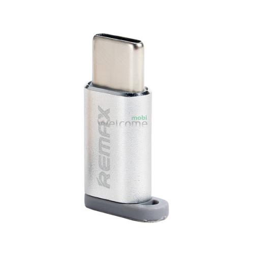 Перехідник Remax Feliz RA-USB1 microUSB(F) to Type C (M) Silver