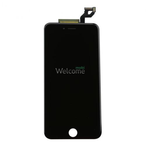 Дисплей iPhone 6S Plus в зборі з сенсором та рамкою black (On-cell)