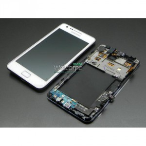 Дисплей Samsung i9100 Galaxy S2 with touchscreen and frame white orig