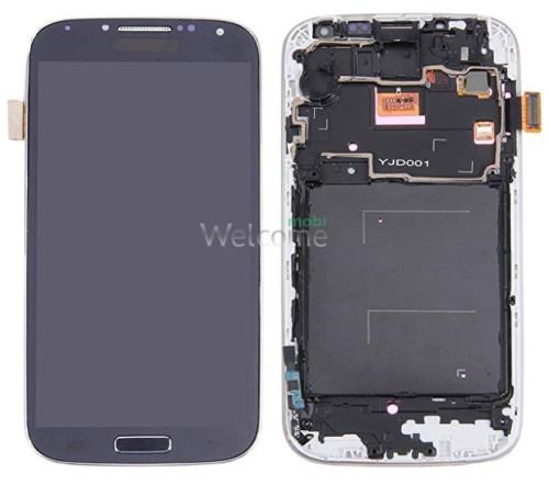 Дисплей Samsung i9500 Galaxy S4/i337/i9505 в зборі з сенсором та рамкою black