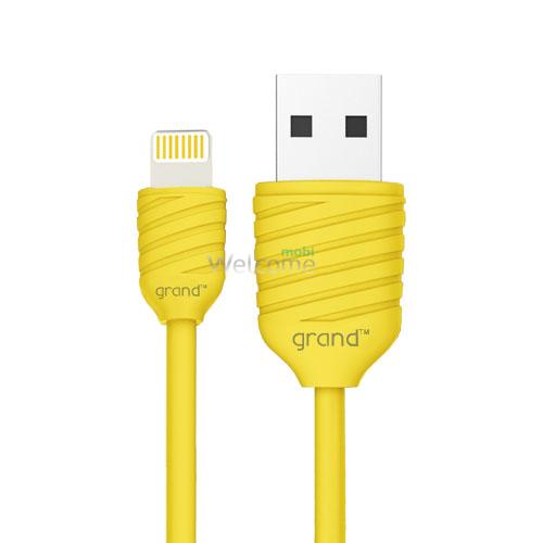 USB кабель для iiPhone 5/5S/6/6S/7/8/X Grand Pineapple Yellow 1м