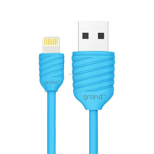 USB кабель для iPhone 5,5S,6,6S,7,8,X Grand Pineapple Blue 1м