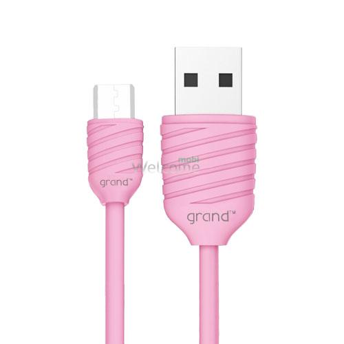 USB кабель micro Grand Pineapple Pink 1м