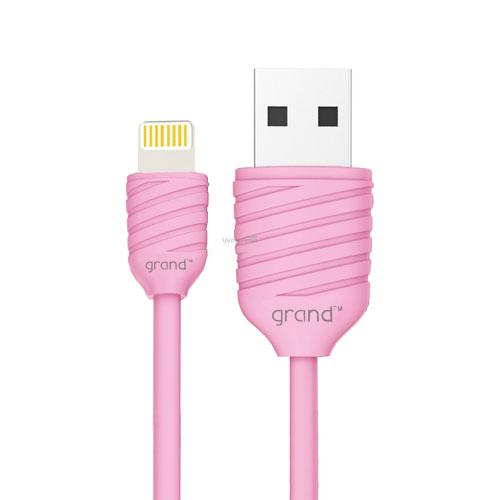 USB кабель для iiPhone 5/5S/6/6S/7/8/X Grand Pineapple Pink 1м