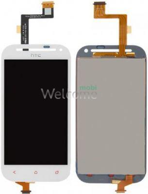 Дисплей HTC C520e One SV/T528t One SV в зборі з сенсором white orig