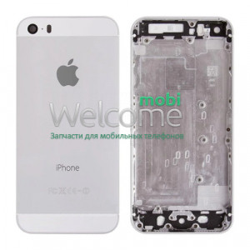 Задня кришка iPhone 5S silver (без IMEI)