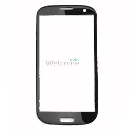 Стекло корпуса Samsung I9300 Galaxy S3 black high copy