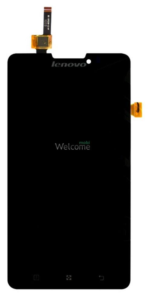 Дисплей Lenovo P780 with touchscreen black orig (orig IC)