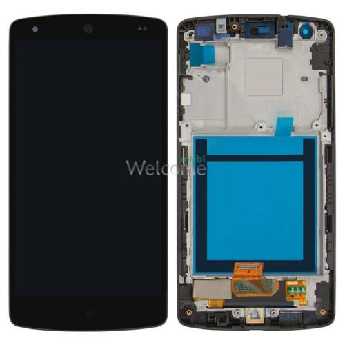 Дисплей LG D820 Nexus 5 Google/D821/D822/D832 в зборі з сенсором та рамкою black