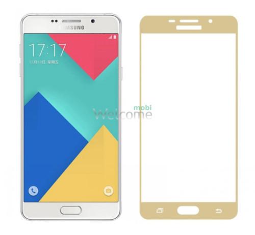 Скло корпусу Samsung A310 Galaxy A3 (2016) gold orig