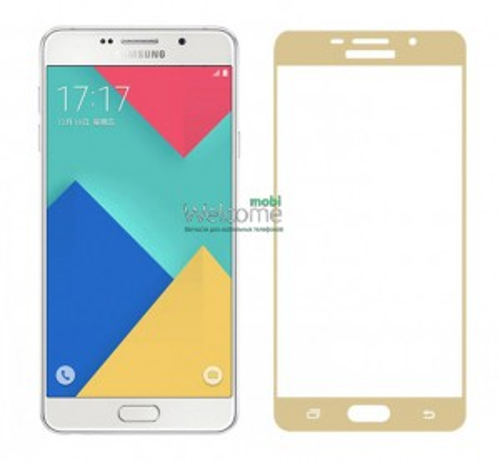 Стекло корпуса Samsung A310 Galaxy A3 (2016) gold orig