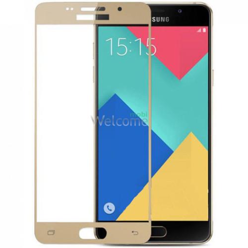 Стекло корпуса Samsung A510 Galaxy A5 (2016) gold orig