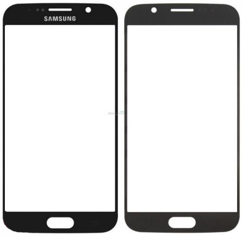Стекло корпуса Samsung G920F Galaxy S6 black orig