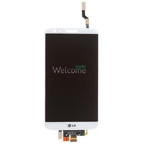 Дисплей LG G2 D800/D801/D803/LS980/VS980/D805/D808/E940/F320 в зборі з сенсором white
