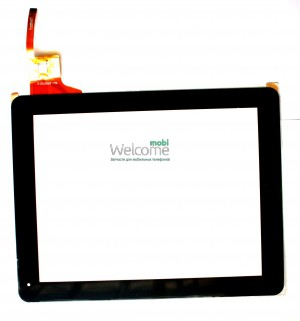 Сенсор для China-Tablet PC 9,7  (# WJ-DR97010) Ritmix RDM-1040, RDM-1055 Digma IDS 10 black, capacitive, 12 pin (237 * 184 mm), 9.7)