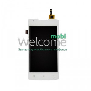 Дисплей Lenovo A1000 with touchscreen white orig