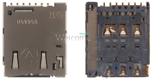 Конектор sim Sony E2303 Xperia M4 Aqua/E2306/E2312/E2333/E2353/E2363