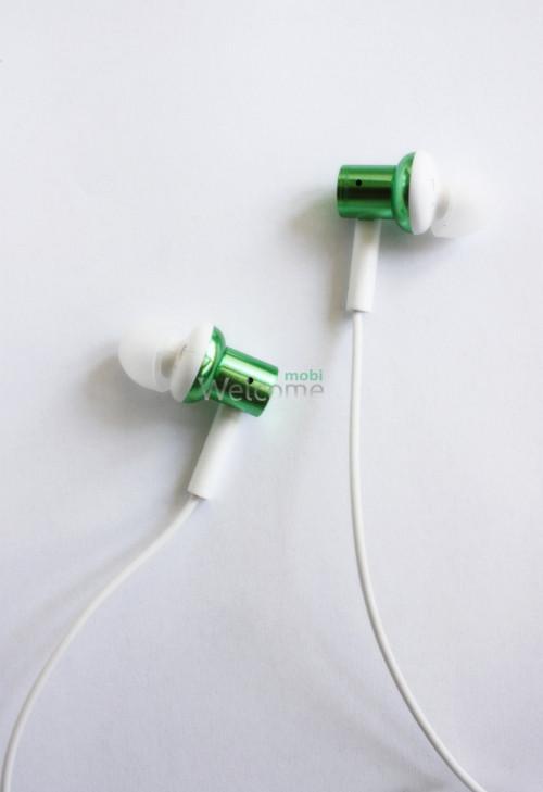 Наушники вакуумные метал Xiaomi MI7 green+mic (гарнитура)