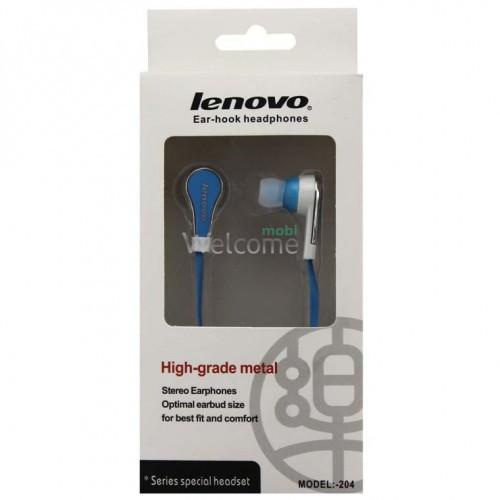 Навушники вакуумні Lenovo 204 blue