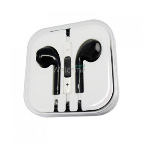 Навушники iPhone 5S black (пульт+мікрофон)