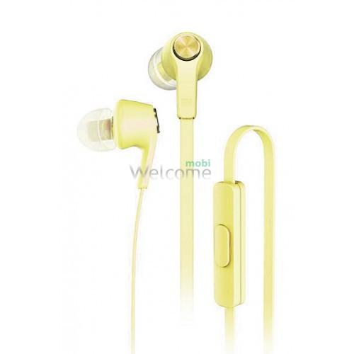 Навушники вакуумные метал Xiaomi MI5 gold+mic (гарнитура)
